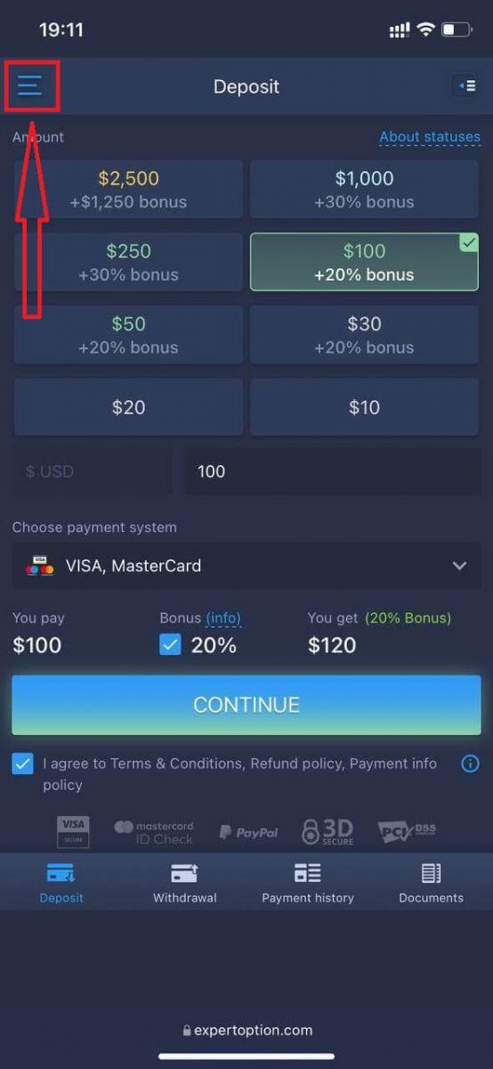 Come accedere e iniziare a fare trading di opzioni binarie su ExpertOption