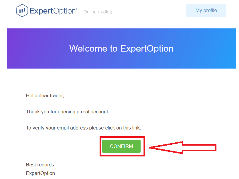 Come accedere e verificare l'account in ExpertOption