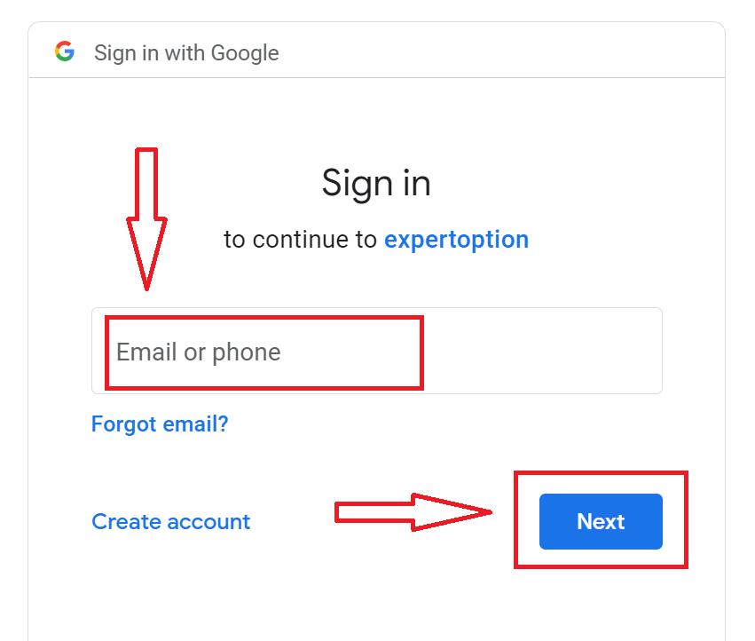 Come aprire un conto e prelevare denaro su ExpertOption
