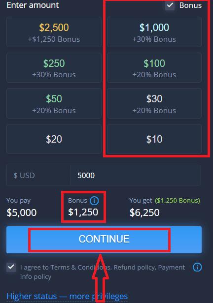 Come registrarsi e depositare denaro su ExpertOption